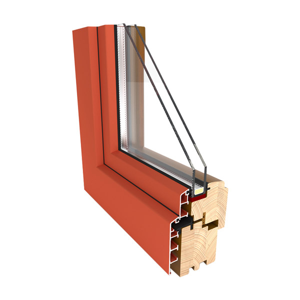 Fa ablak ALU clip borítással