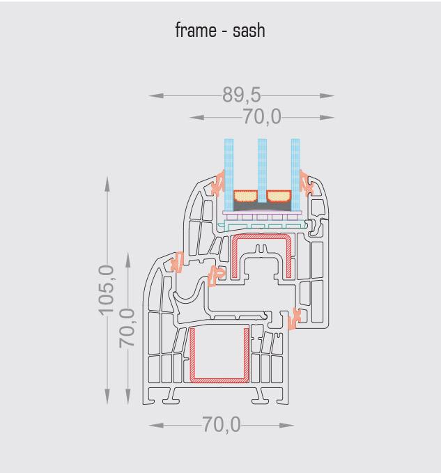 T-Passive Slim frame sash