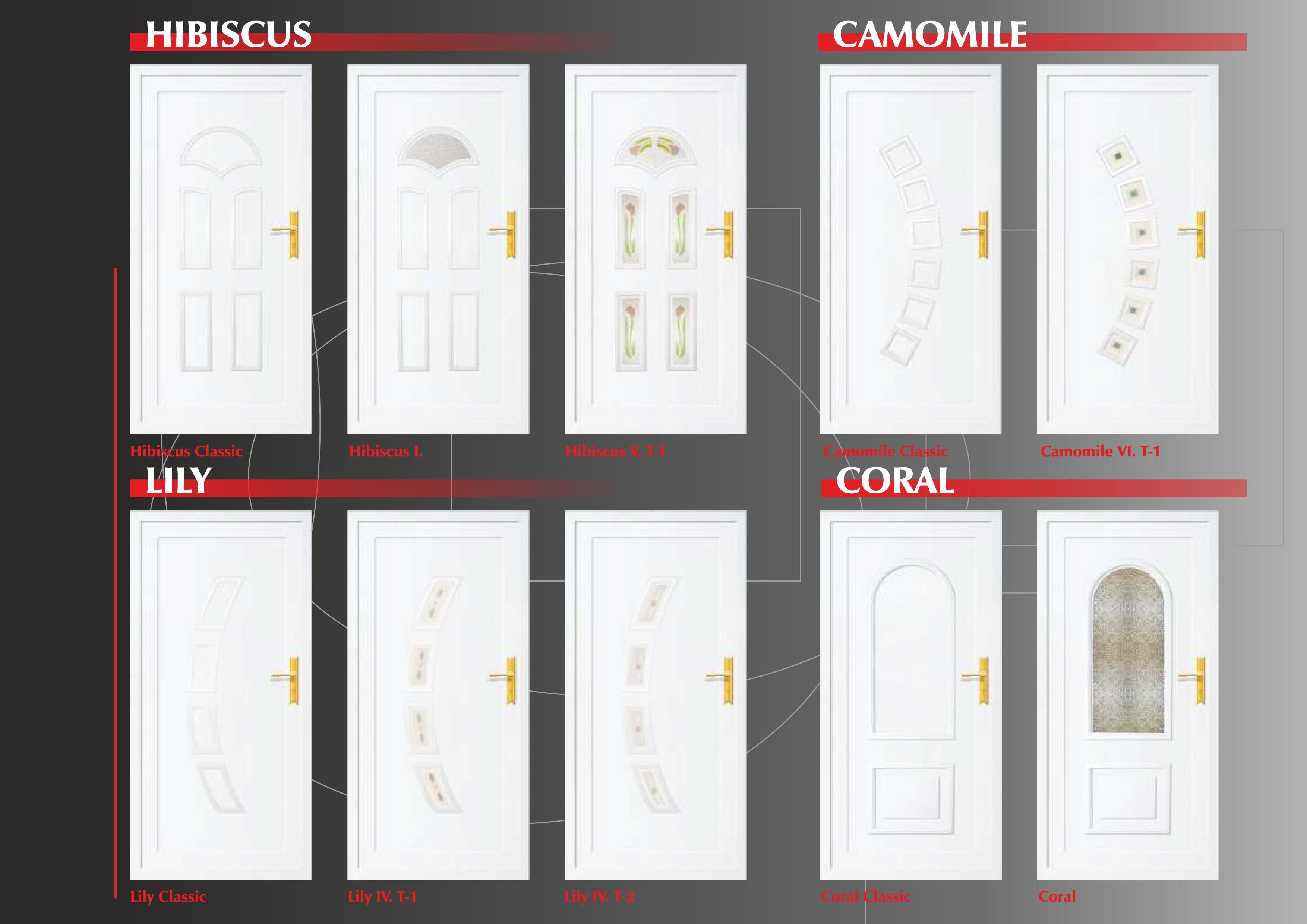 Műanyag PVC ajtó katalógus
